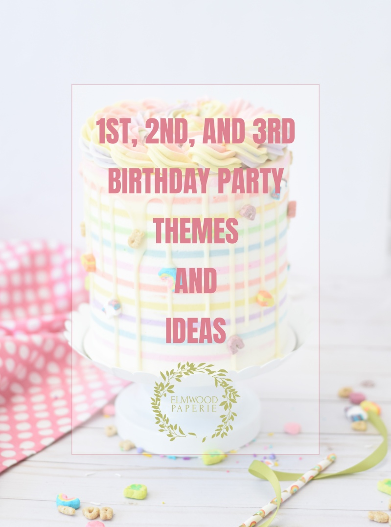 Here are some themes to help you plan a birthday party. These birthday party themes work well for first, second and third birthdays.